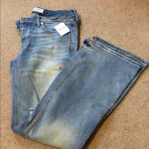 Free people destroyed flare jeans size 28